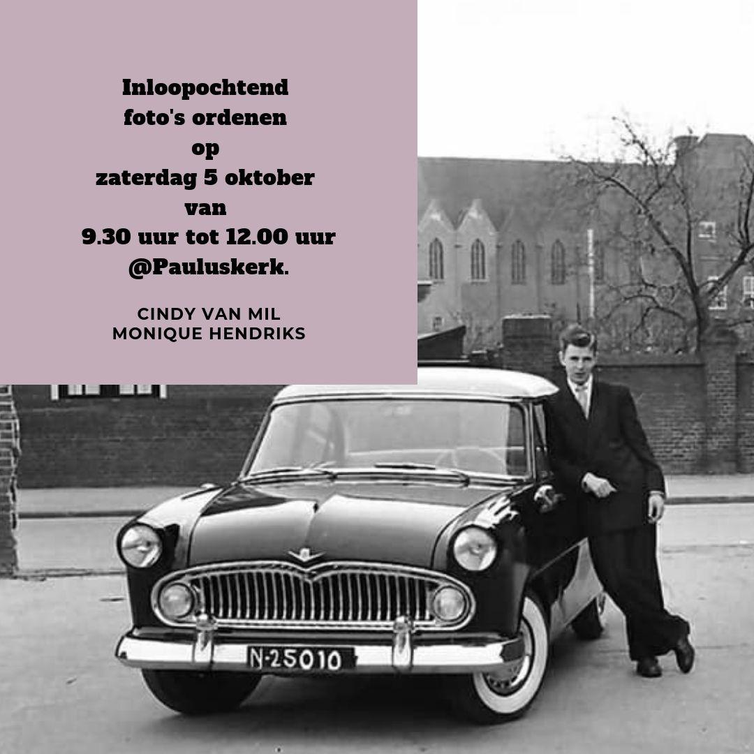 _insta Inloopochtend foto's ordenen op zaterdag 5 oktober van 9.30 uur tot 12.00 uur